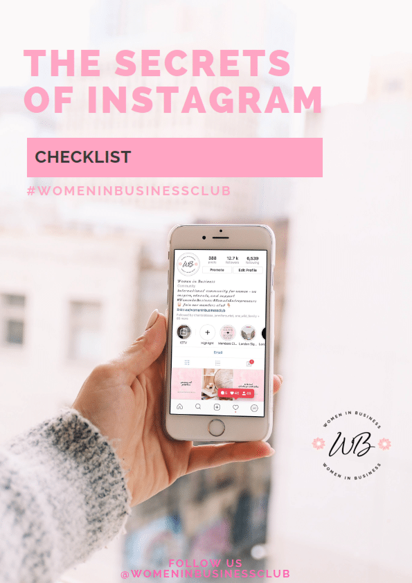 Women In Business Instagram Checklist