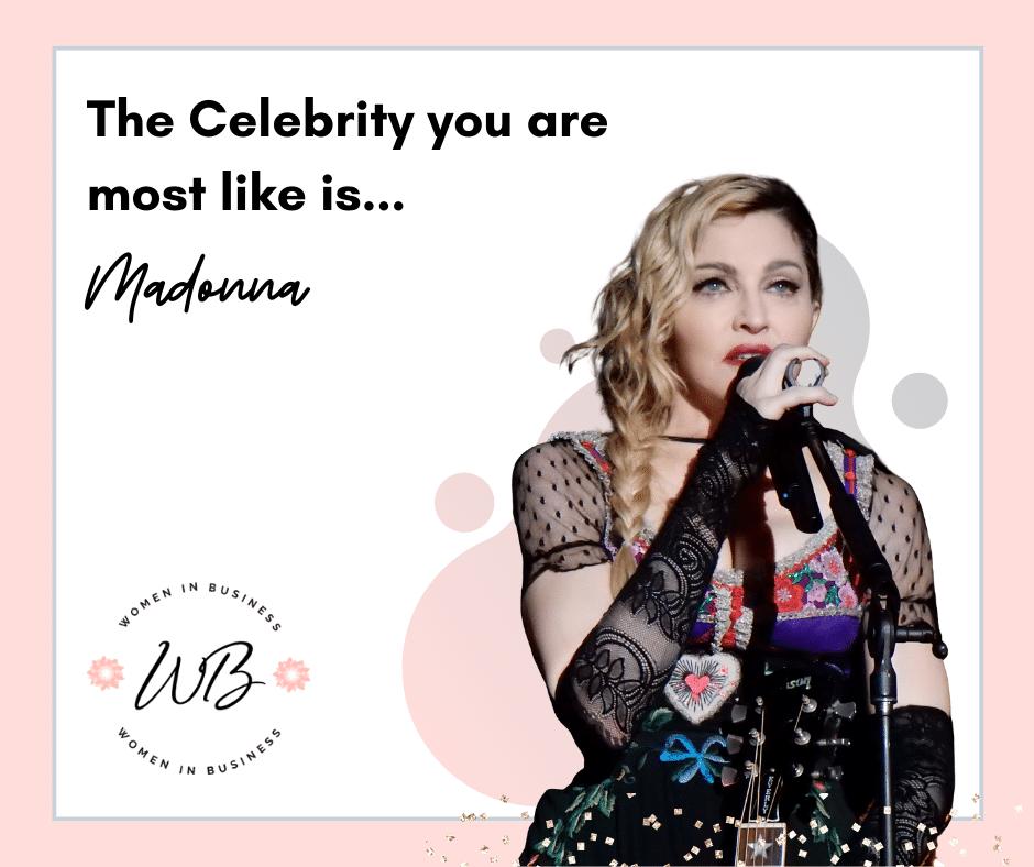 Quiz Results Madonna 1