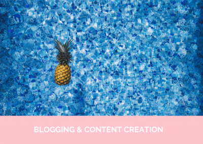 BLOGGING & CONTENT CREATION