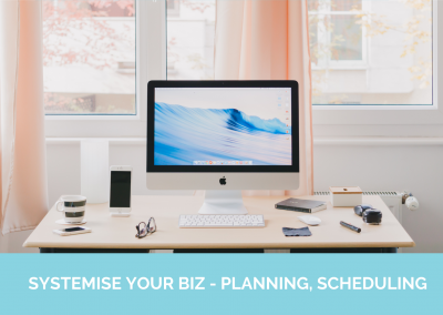 SYSTEMISE YOUR BIZ - PLANNING, SCHEDULING