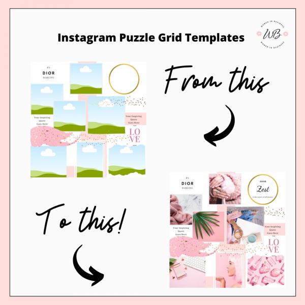 Instagram Puzzle Templates 2