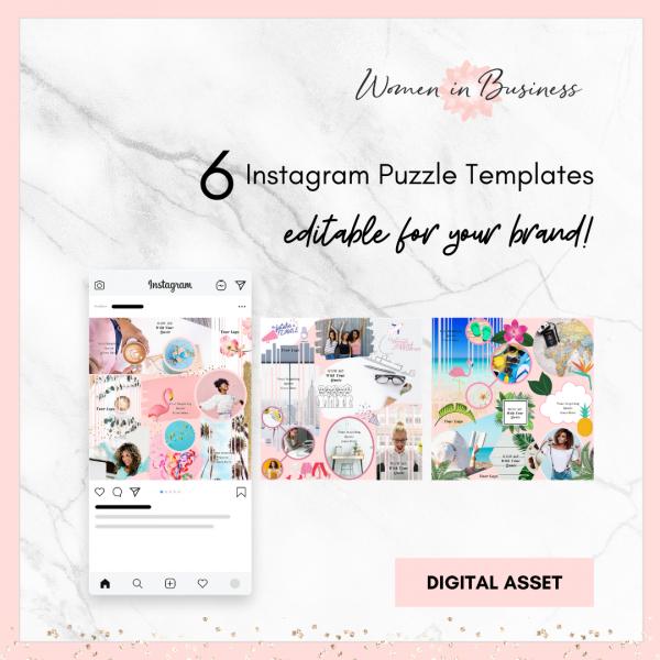 Instagram Puzzle Templates 1