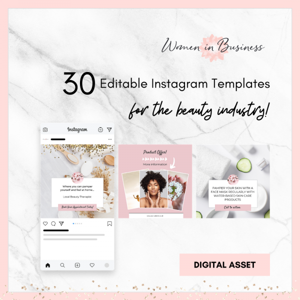 Social Media Templates for Business in Beauty 1