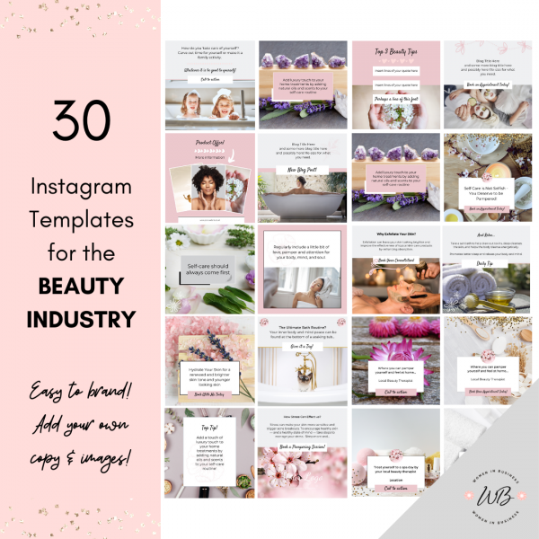 Social Media Templates for Business in Beauty 2