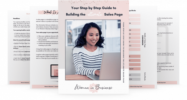 Step to Step Guide Sales Page