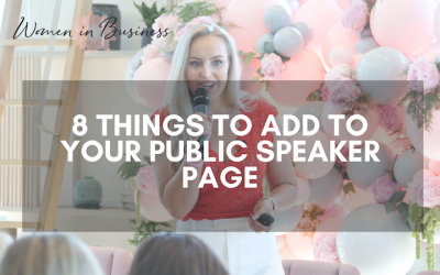 8 Things to Add to Your Public Speaker Page
