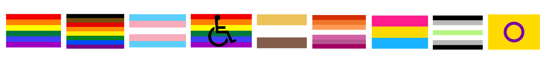 diversity and inclusion flags