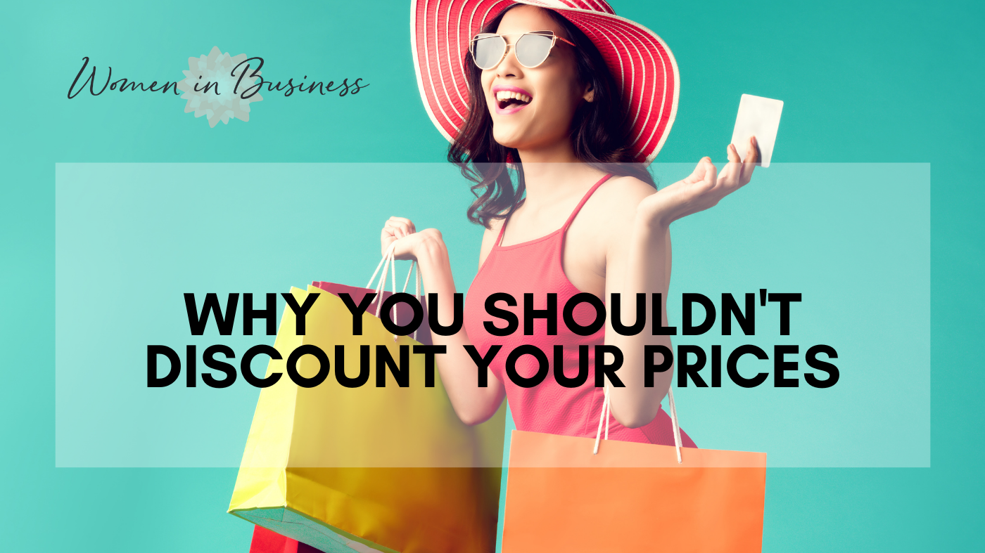 Why You Shouldn't Discount Your Prices