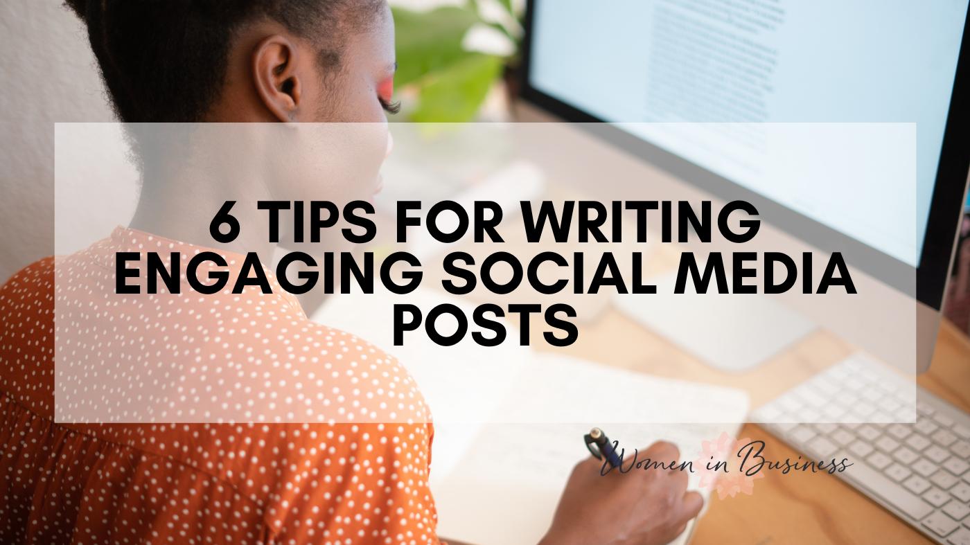 writing down social media ideas