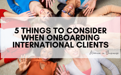5 Things to Consider When Onboarding International Clients