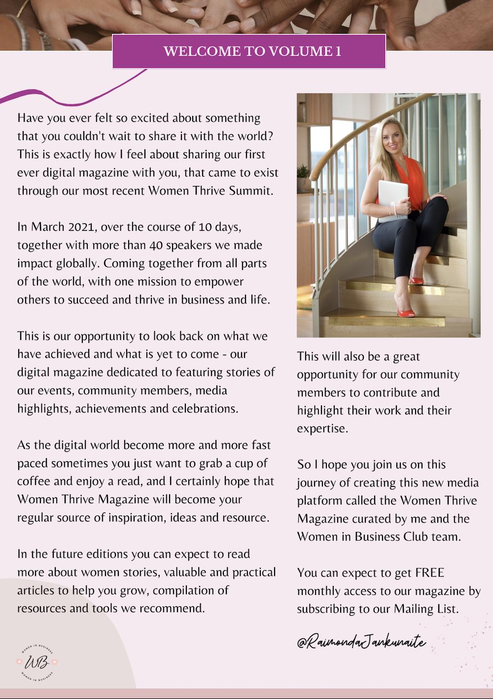 Women Thrive Magazine 1